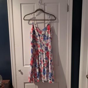 Gap floral slip dress size L